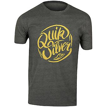 Quiksilver Mens Riverside T-Shirt - Charcoal/Gold