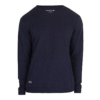 Lacoste Long Sleeve Sleepwear Top - Blue