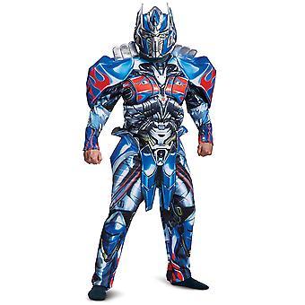 Optimus Prime Transformers Deluxe el último caballero superhéroe hombre traje XL