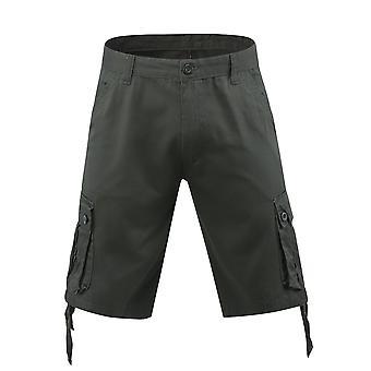 Allthemen męskie krótkie spodnie bawełniane casual duże kieszenie szorty