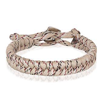 Skipper Flechtarmband Armband Bracelet geflochten aus Nylon in Beige 8004
