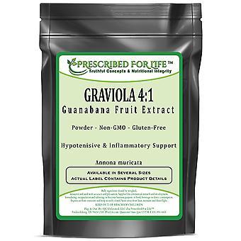Graviola-4:1 Guanabana Extracto de pulpa de fruta en polvo (Annona muricata)