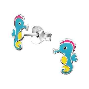 Children's Sterling Silver Seahorse Stud Earrings