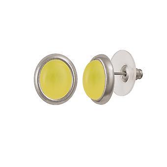 Coleção minueto mel eterna quartzo amarelo Tom de prata Stud piercings brincos