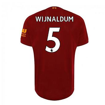 2019-2020 Liverpool Home Football Shirt (Wijnaldum 5)
