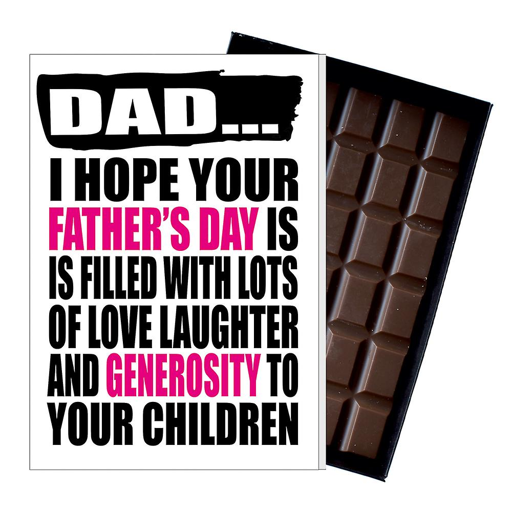 Funny Father's Day Gift Silly Chocolate Present Rude Card For Dad DADIYF138