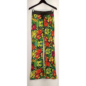 Xhilaration Lounge Pants Pull On Drawstring Floral Gray Womens