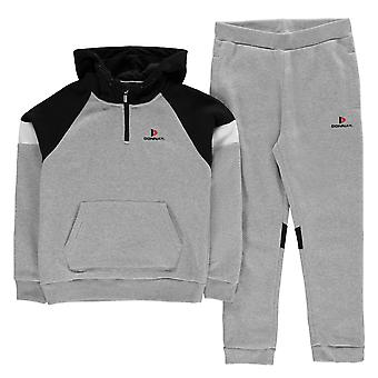 Donnay Kids Hooded Sweat Fleece Tracksuits Junior Boys Kangaroo Pocket