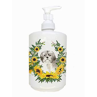 Carolines Treasures  CK2960SOAP Shih Tzu Puppy Ceramic Soap Dispenser