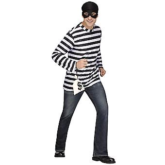 Burglar Bank Robber Thief Convict Prisoner Jail Funny Men Costume STD