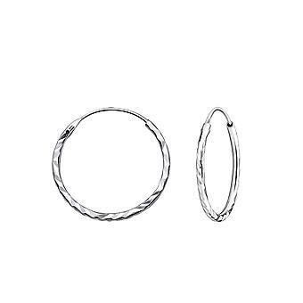 Twisted-925 Sterling hopea korva vanteet-W25014X