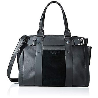 Liebeskind Berlin Sporty Satchel Suede Large - Black Woman Folder (Black) 17x47x27 cm (W x H L)