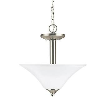 Sea Gull Lighting Holman 2-Luce Soffitto convertibile ciondolo spazzolino Nickel