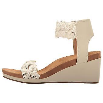 Marca suerte mujeres Kierlo tela puntera abierta plataforma Casual sandalias