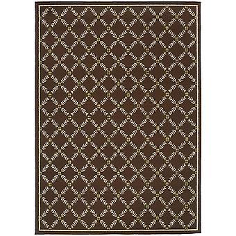 Caspian 6997n brown/ivory indoor/outdoor rug rectangle 7'10