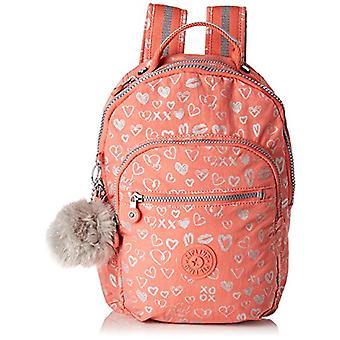 Kipling SEOUL GO S Sac à dos pour enfants - 35 cm - 14 litres - Multicolore (Hearty Pink Met)