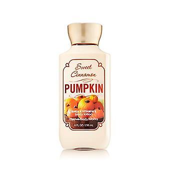 Bath & Body Works Sweet Cinnamon Pumpkin Body Lotion 8 oz Style Packaging (2 Pack)