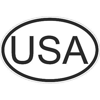 Autocollant Sticker Drapeau Oval Code Pays Voiture Moto Etats Unis Americain USA