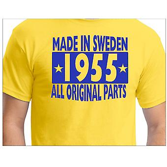 T-shirt jaune-Made in Sweden 1955-All Original Parts