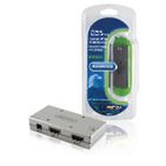 Bandridge 4 porte HDMI Interruttore Argento BVB1004