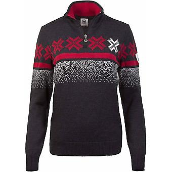 Dale of Norway Women's Åre Sweater - Dark Charcoal/Raspberry