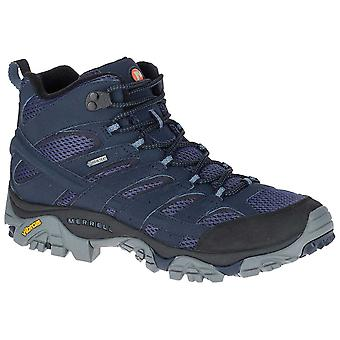 Merrell Navy Mens Moab 2 Mid GTX Walking Boot