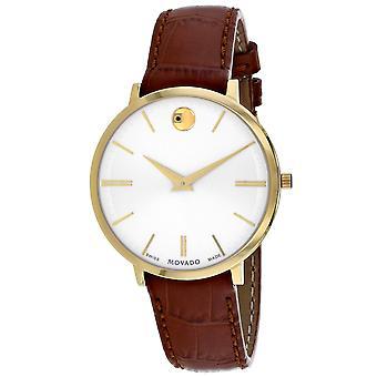 Movado Women's Ultra slim Silver Dial Watch - 607176