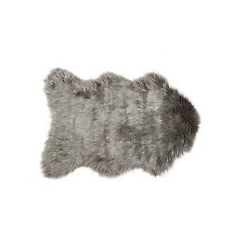 "24"" x 36"" x 1.5"" Gray Sheepskin Faux Fur Single - Area Rug"