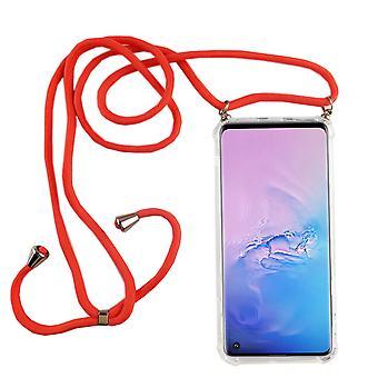 Catena di telefoni per Samsung Galaxy S10 - Custodia collana smartphone con banda - Cord con custodia per appendere in rosa