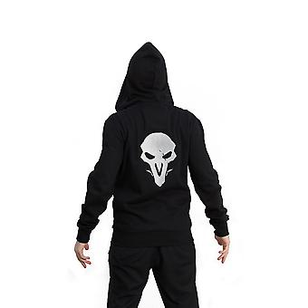 Overwatch Reaper Hero Hooded Zip Male Smll Black/Red (CHM002OW-S)