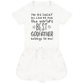 I'm As Lucky As Can Be Best GodFather belongs to me! Baby Playsuit