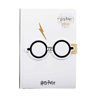 Harry Potter Notebook Glasses Lightning Bolt Logo new Official White A5