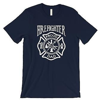 Firefighter Dad Mens Navy Caring Faithful Proud Fun Shirt Dad Gift