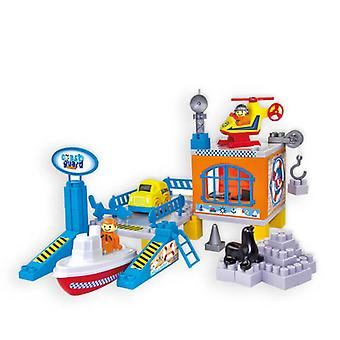 Mochtoys Children's Harbour Guard 10668 water redding per helikopter, boot, auto en nog veel meer.