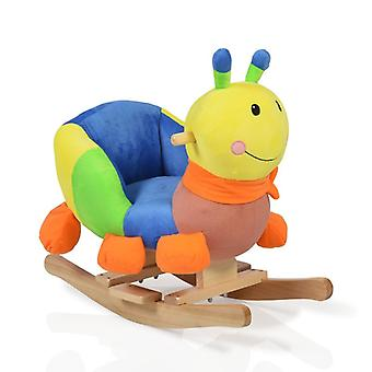 Plush rocking caterpillar WJ-635 sound function, wooden handles from 12 months
