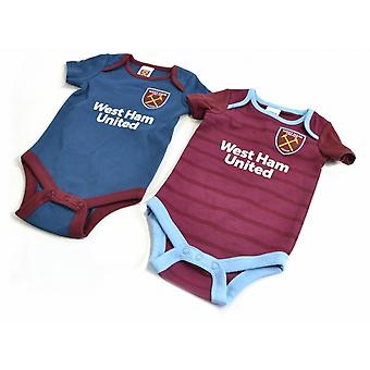 West Ham United FC zwei Pack Baby Body Suit