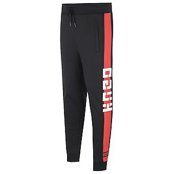 HUGO Deger Black Taped Logo Sweatpants