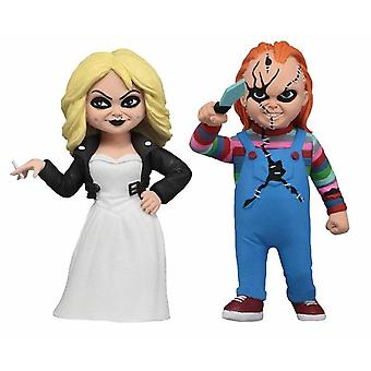 Toony Terrors 6-Figura set Chucky & mireasa de Chucky Rockfigure realizate din plastic, alimentat solare.