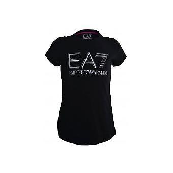 EA7 Dziewczyny czarna koszulka
