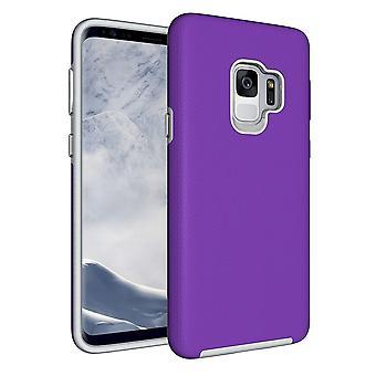 Für Samsung Galaxy S9 zurück Fall, starke Rüstung hohe Qualität Abschirmung Abdeckung, lila
