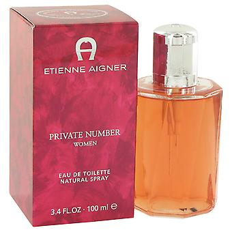 Private Number for Women by Aigner 100ml EDT Spray