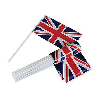 Bristol Novelty Union Jack Hand Waver Flags (Pack of 50)