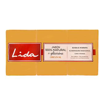 Natuurlijke glycerine zeep Bar Lida (3 stuks)