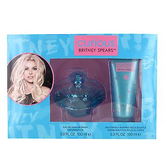 Britney Curious 100ml Eau de Parfum and 100ml Body Souffle Gift Set for Women