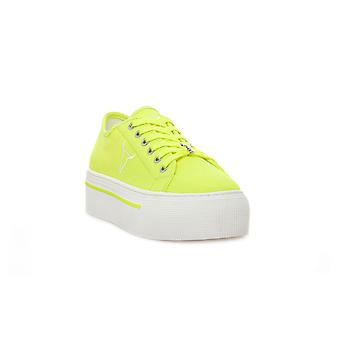 Windsor smith ruby canvas neon yellow sneakers fashion