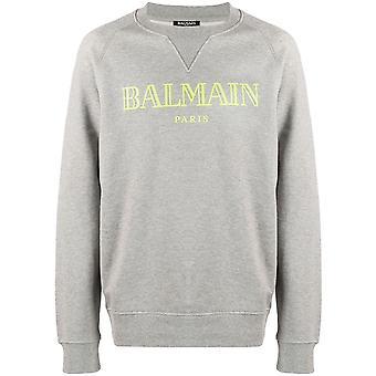 Balmain Paris Gris Logo Sweatshirt