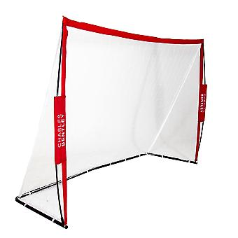 Charles Bentley 7x5ft Premium tragbare faltbare red Fußball Training Kick Goal mit Tragetasche