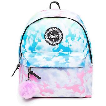 Hype Pastel Gradient Clouds Pom Pom Backpack Bag Multi 00