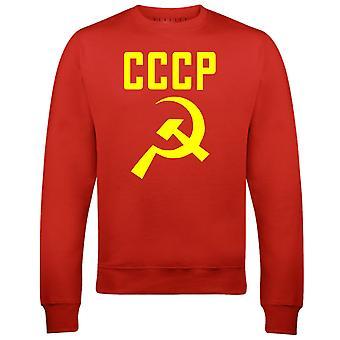 Reality glitch cccp hamer en sikkel mens sweatshirt