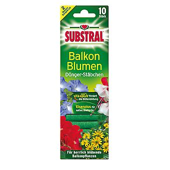 SUBSTRAL® fertilizer sticks for balcony flowers, 10 pieces
